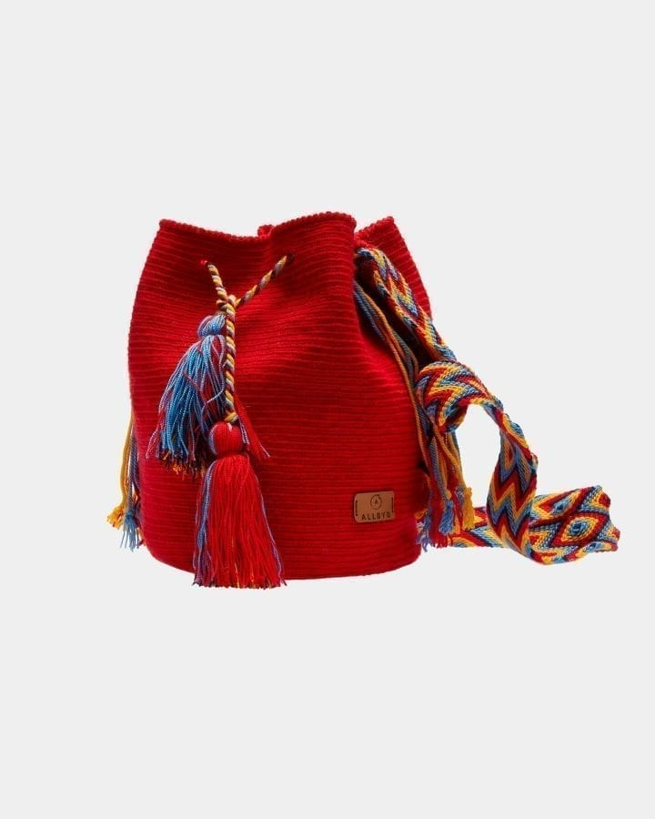 Maribel Red shoulder bag by ALLBYB Design, Philadelphia