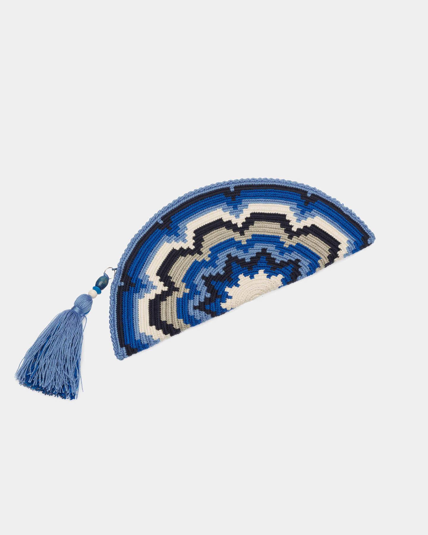 Adelie Blue & White clutch by ALLBYB Design, Philadelphia