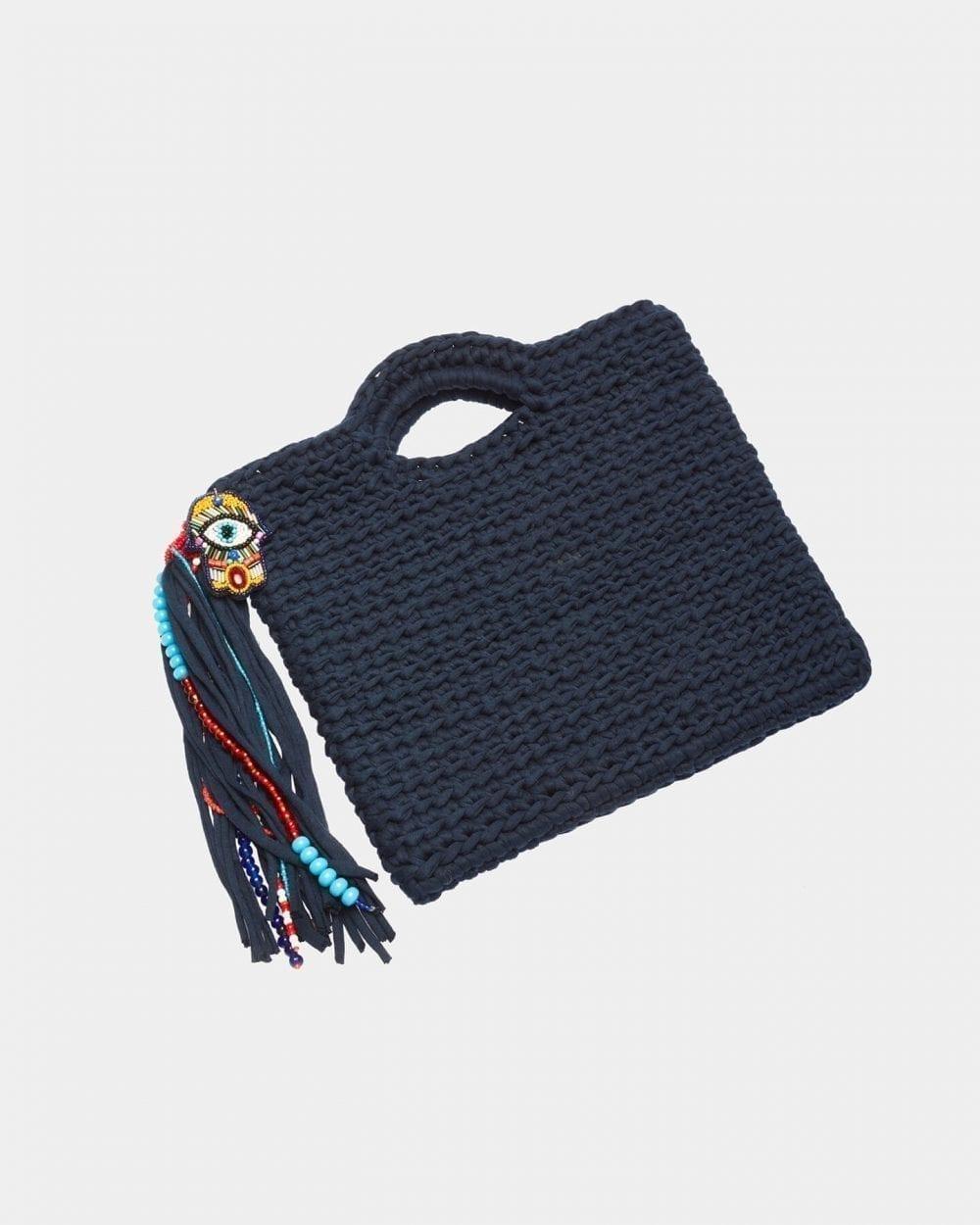 Collette Dark Blue handbag by ALLBYB Design, Philadelphia