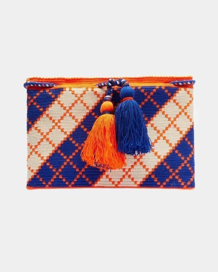 Harmony Blue & Orange clutch