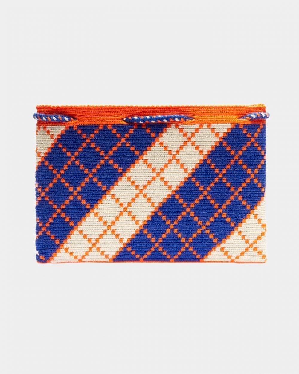 Harmony Blue & Orange clutch by ALLBYB Design, Philadelphia