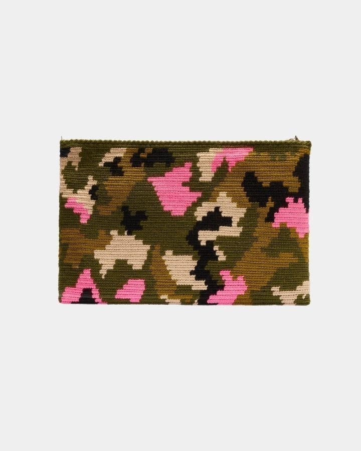 Harmony Camouflage clutch by ALLBYB Design, Philadelphia