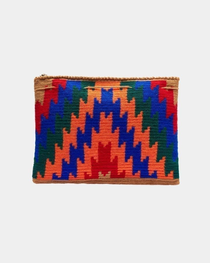 Harmony Beige ZigZag clutch by ALLBYB Design, Philadelphia