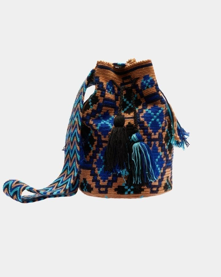 Lea Brown & Blue Love shoulder bag by ALLBYB Design, Philadelphia
