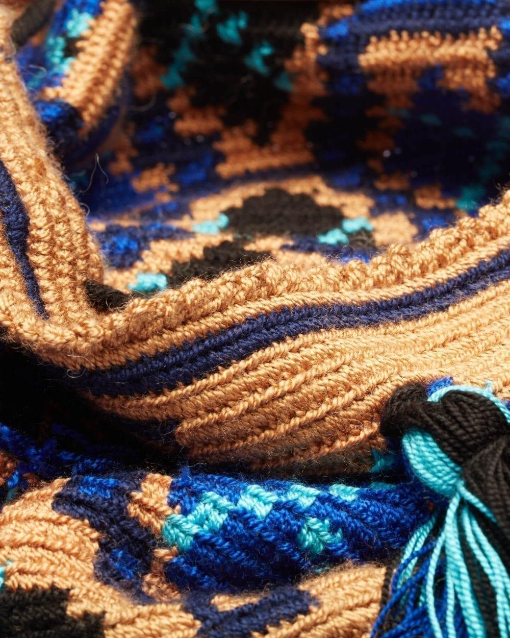 Lea Brown & Blue Love shoulder bag by ALLBYB Design, Philadelphia
