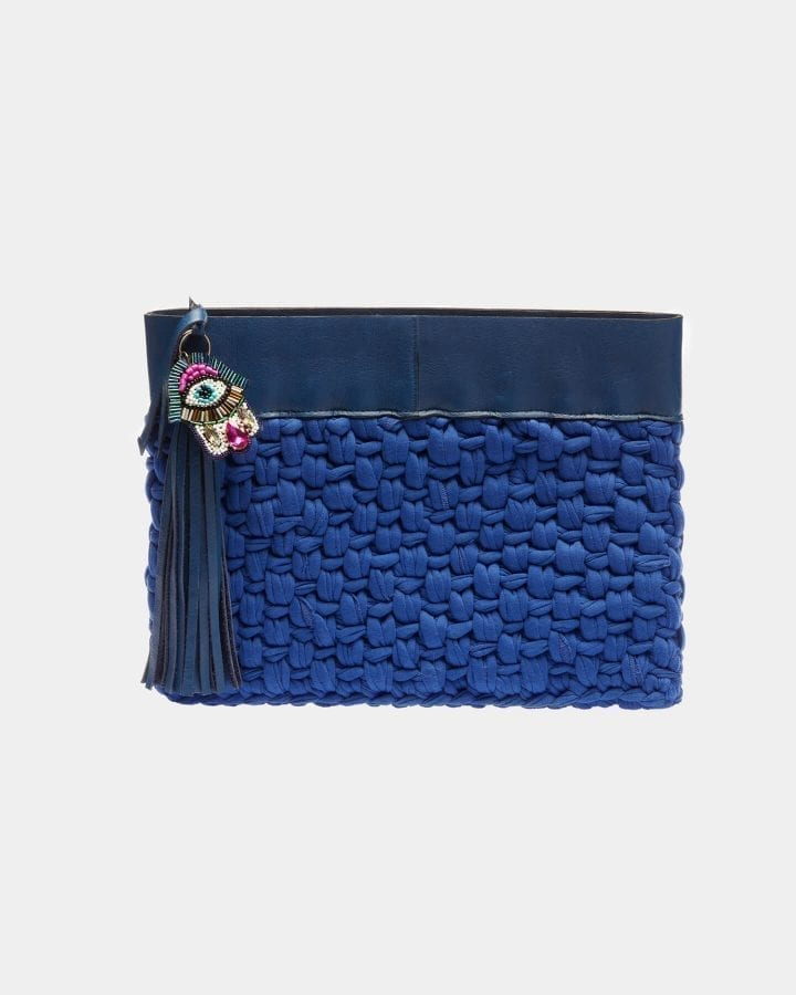 Picard Blue clutch by ALLBYB Design, Philadelphia