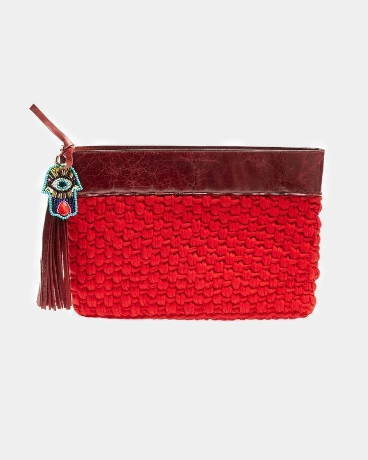 Picard Red clutch by ALLBYB Design, Philadelphia