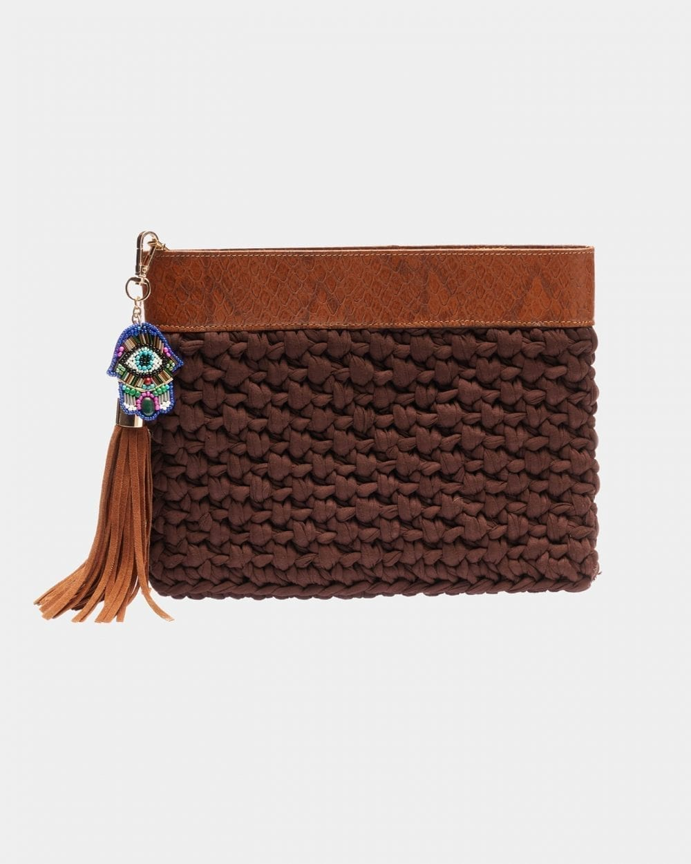 Picard Brown clutch by ALLBYB Design, Philadelphia