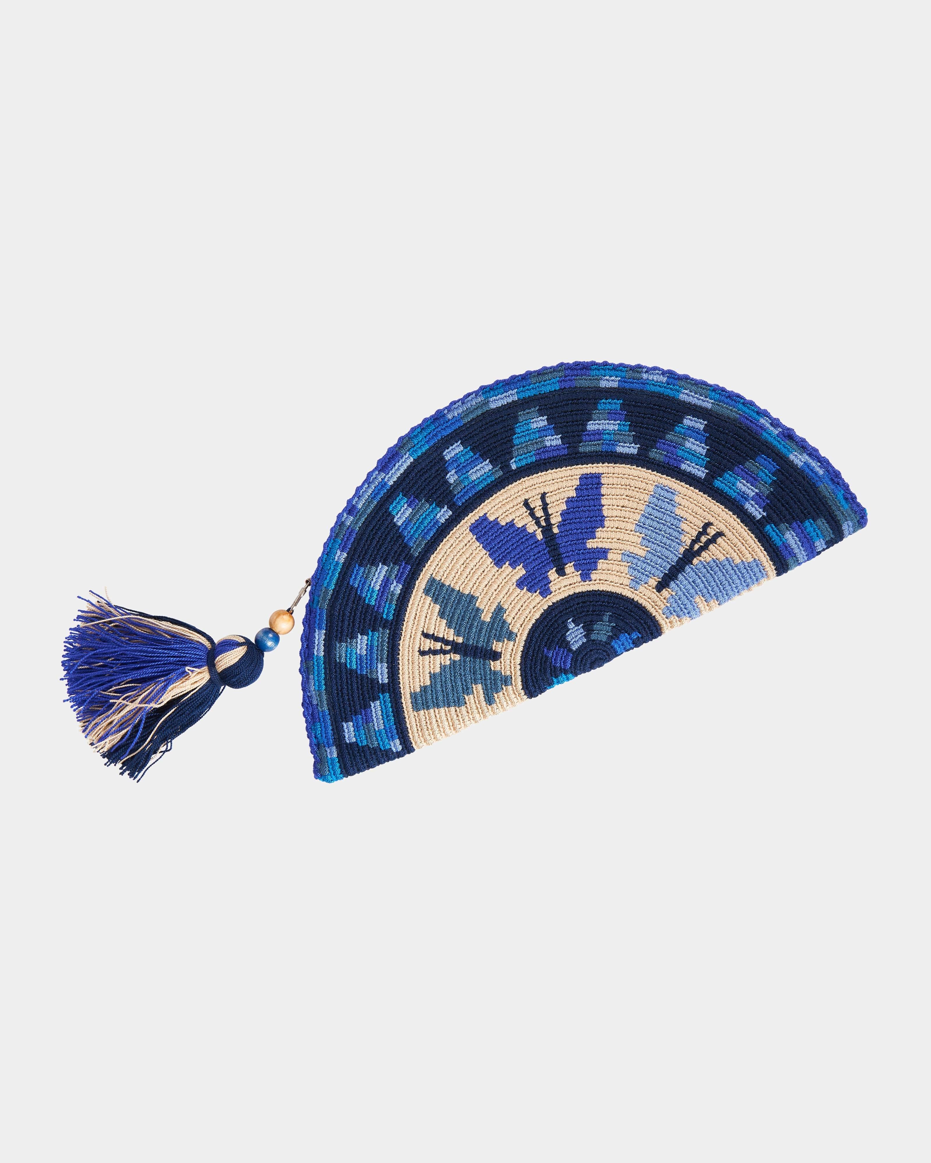 Adelie Butterfly Wayuu clutch