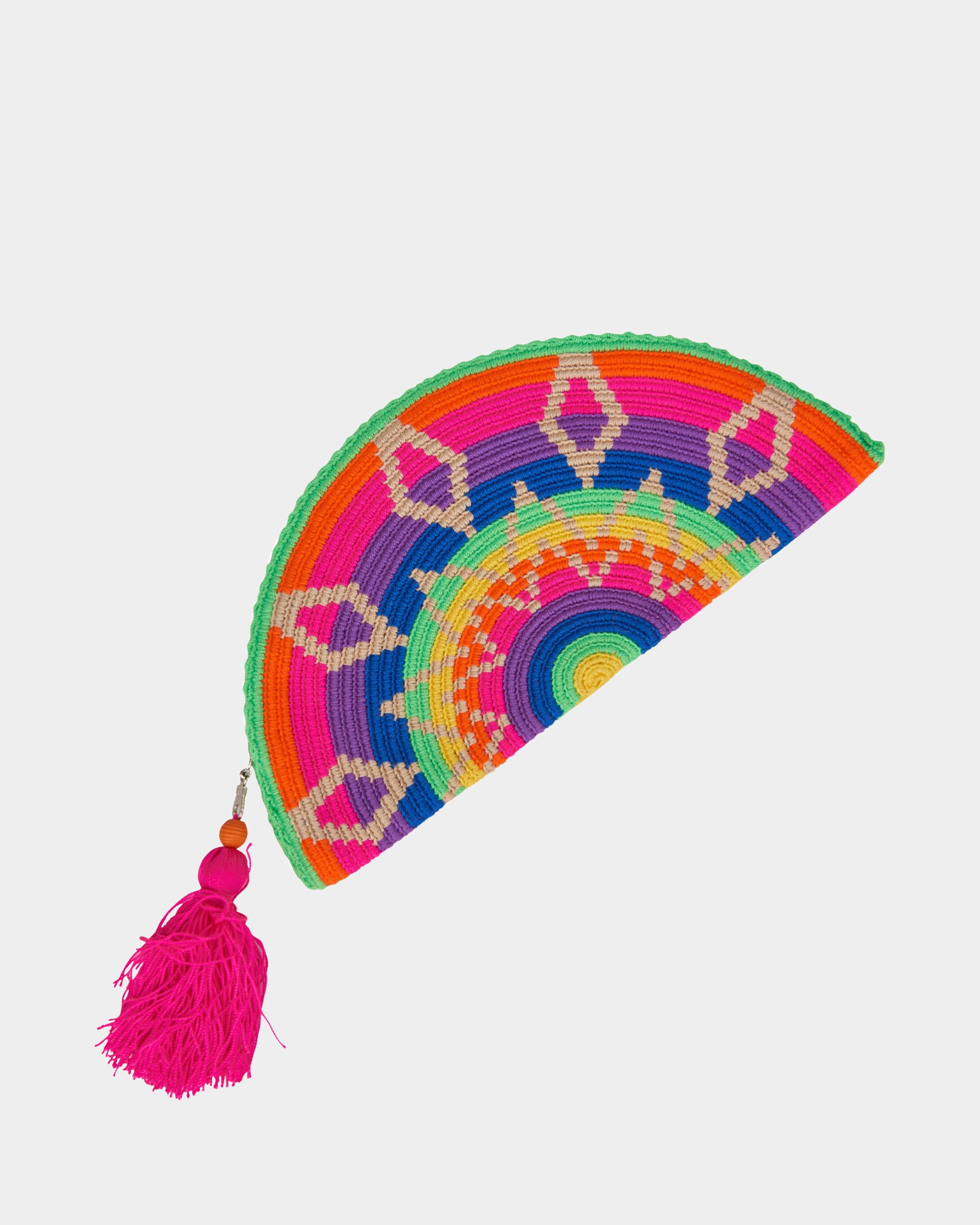 Adelie Neon Colorful Wayuu clutch