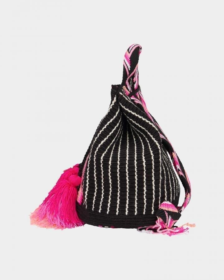 Grace Wayuu Neon Black Backpack