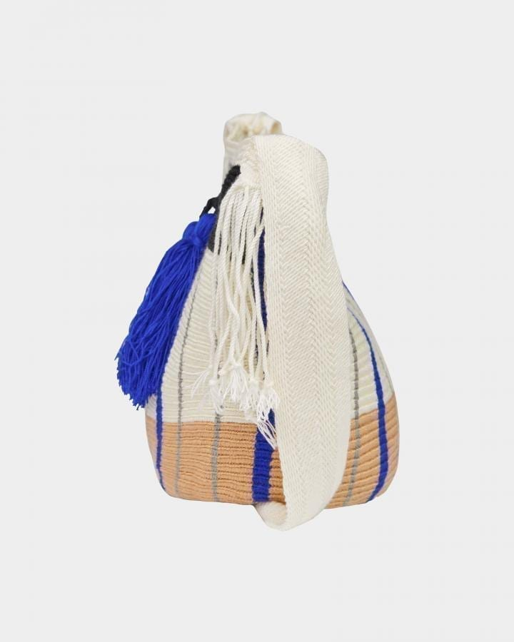 Lea Blue & White shoulder bag