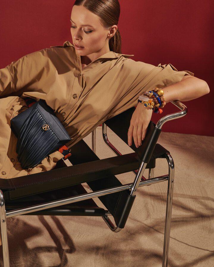 Chelsea Leather Belt Bag - Navy